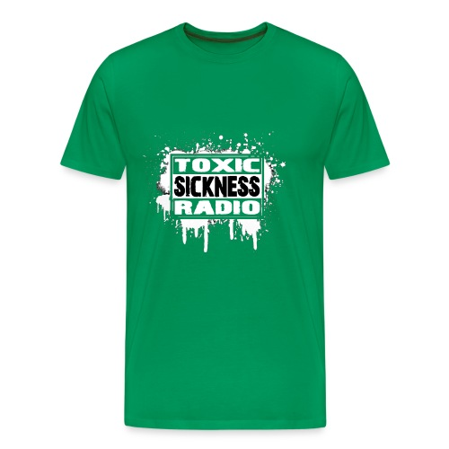 NEW Mens Toxic Sickness Radio Green T-Shirt - Men's Premium T-Shirt