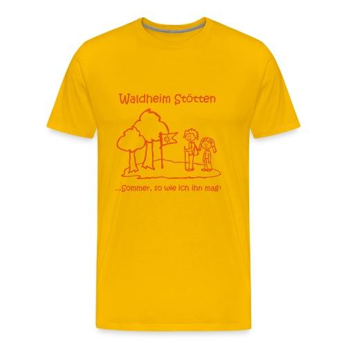 Kinder T-Shirt gelb (Große Größen) - Männer Premium T-Shirt
