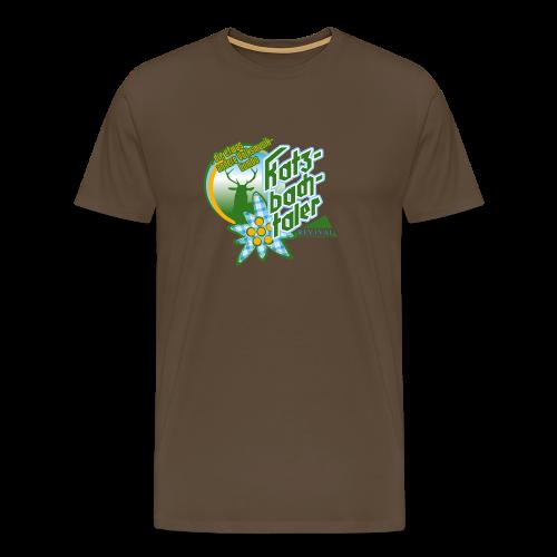 Katzbachtaler T-Shirt braun - Männer Premium T-Shirt