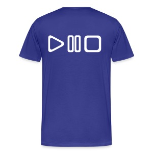 BiggesttMonkeyy PlayPauseStop Whiteprint - Mannen Premium T-shirt