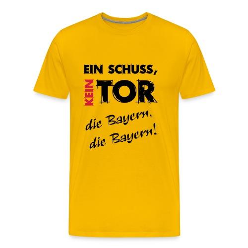 Ein Schuss ein Tor die Bayern - Männer Premium T-Shirt