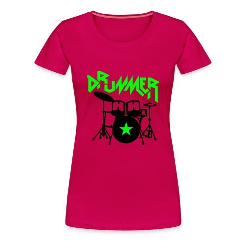 Drummer - Frauen Premium T-Shirt