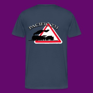 LOCOMOTIVE VAPEUR PACIFIC 231 DANGER - T-shirt Premium Homme