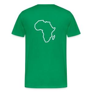 BiggesttMonkeyy Africa Whiteprint - Mannen Premium T-shirt