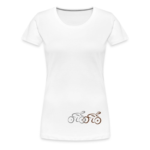 Racing_bikes - Premium T-skjorte for kvinner