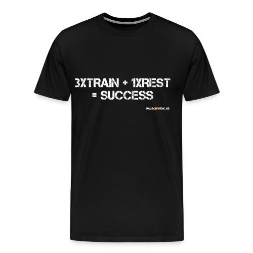 3XTRAIN+1XREST=SUCCESS HERR - Premium-T-shirt herr