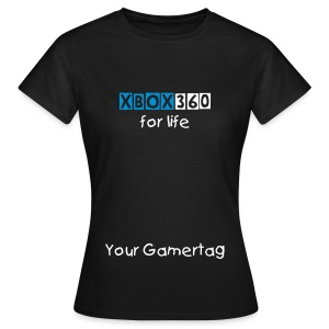 Ladies Xbox 360 For Life T-Shirt - Women's T-Shirt