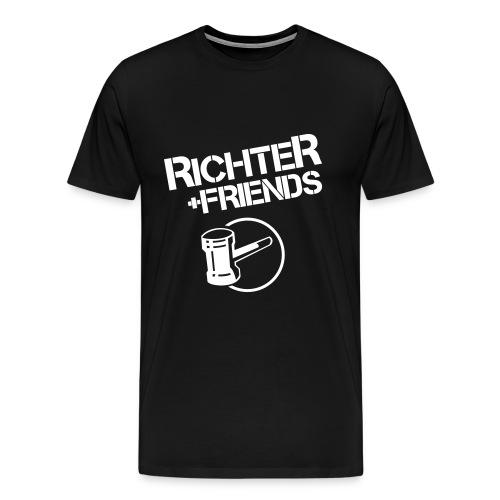 RICHTER+FRIENDS BigShirt, black - Männer Premium T-Shirt