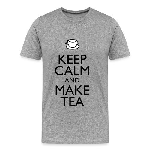 Keep Calm and Make Tea - Premium T-skjorte for menn