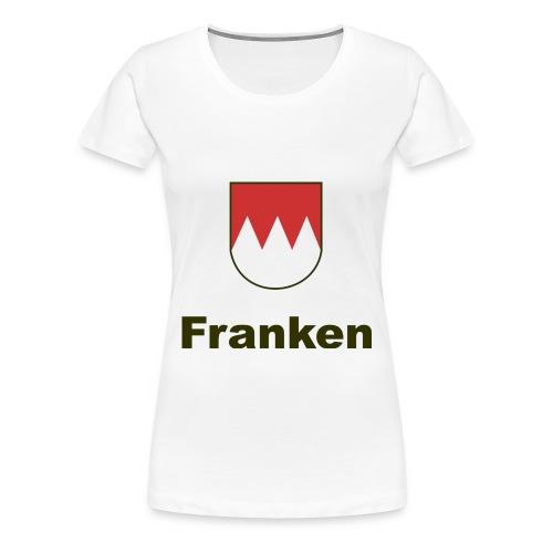 Franken          Schrift:Schwarz - Frauen Premium T-Shirt