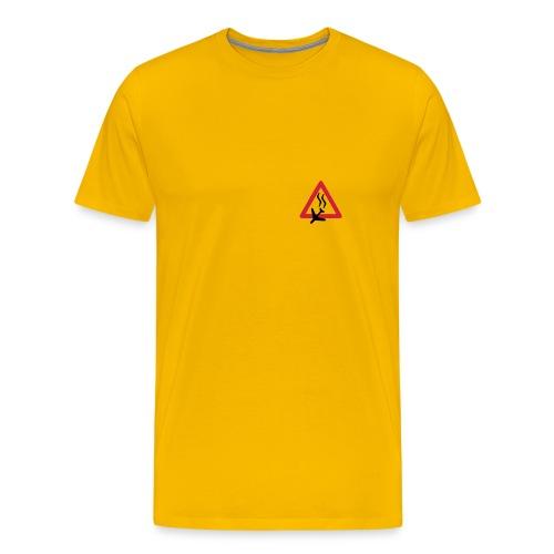 Absturz, gelbes Shirt - Männer Premium T-Shirt