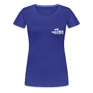 T-shirts ~ Dame premium T-shirt ~ SnowTrex Shirt royal