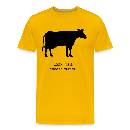 Cheese burger T-shirt - Men's Premium T-Shirt