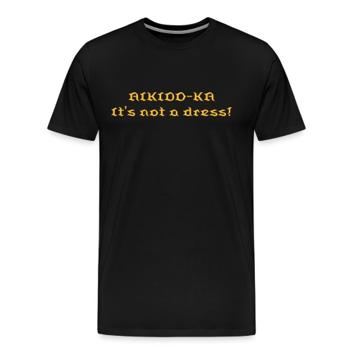 Aikido-ka (gold on black) - Men's Premium T-Shirt