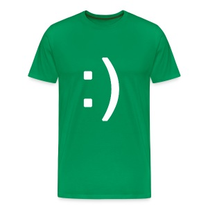 Happy smiley face in text - Men's Premium T-Shirt