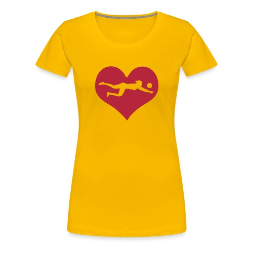I Love Beachvolleyball - Frauen Premium T-Shirt