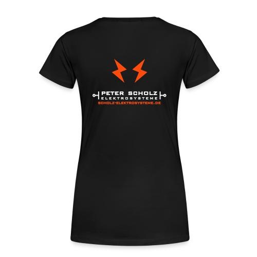 Elektrosysteme | Girlie-Shirt (mit Backprint) - Frauen Premium T-Shirt