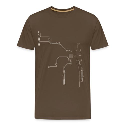 Leiterbahnen / Platinen  - Männer Premium T-Shirt