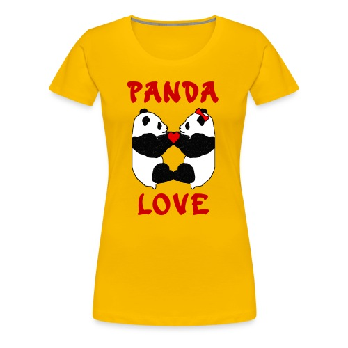 Panda Love Womens Girlie - Women's Premium T-Shirt