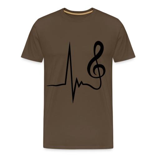 T SHIRT uomo note musicali - Maglietta Premium da uomo