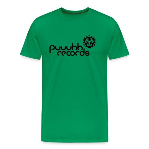 Männer T-Shirt klassisch puuuhh records - schwarze Schrift - Männer Premium T-Shirt