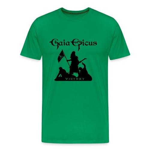 T-Shirt Green - Gaia Epicus - Victory 2 - Men's Premium T-Shirt