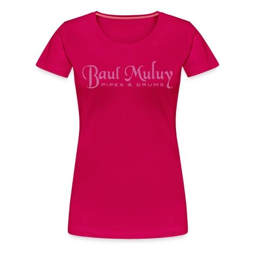 Girlieshirt mit Glitzerdruck, pink - Frauen Premium T-Shirt