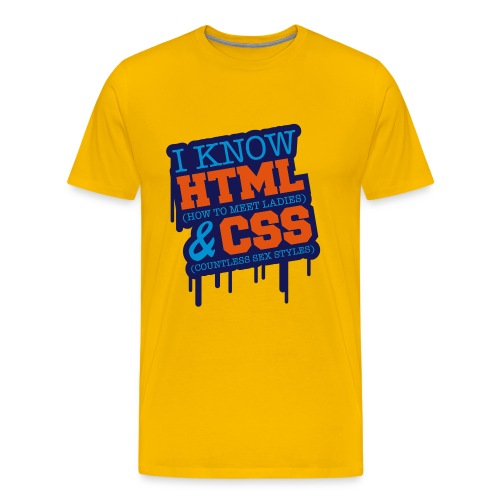 I Know HTML & CSS - T-shirt Premium Homme