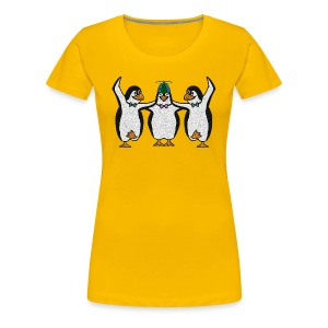 Penguin Trio Womans Girlie - Women's Premium T-Shirt