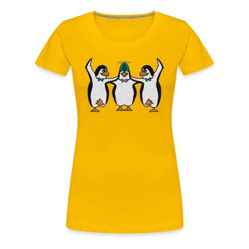 Penguin Trio Womans Girlie - Women's Premium T-Shirt