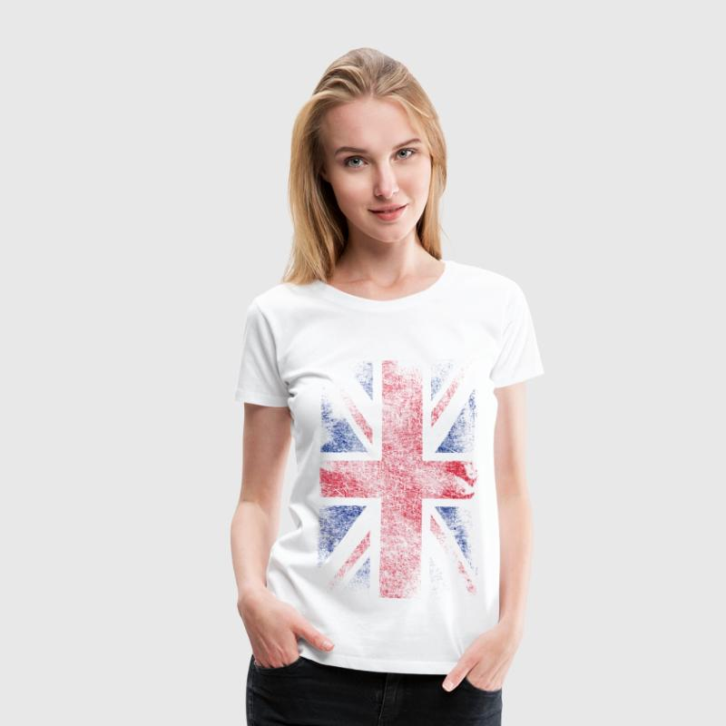 union jack - used look T-shirts - Vrouwen Premium T-shirt