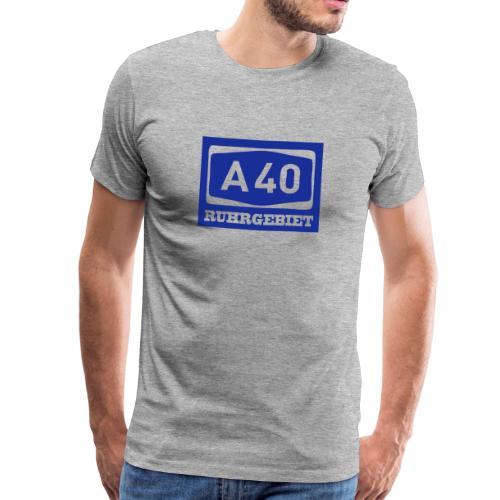 A40 - Ruhrgebiet - Männer klassischT-Shirt - Männer Premium T-Shirt