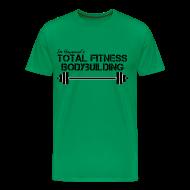 T-Shirts ~ Men's Premium T-Shirt ~ Total Fitness Bodybuilding Barbell Classic-Cut T-shirt