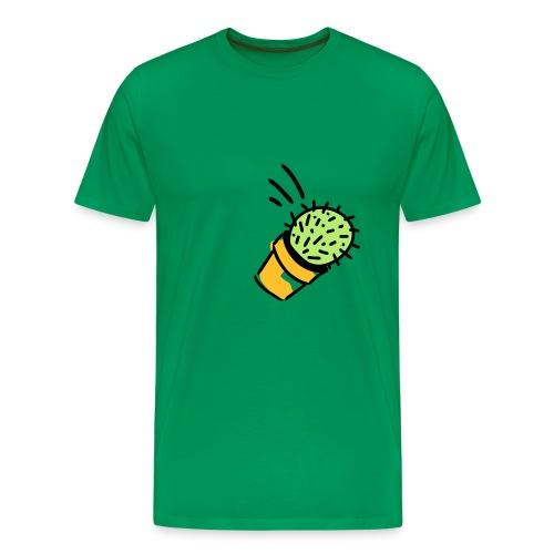 Kaktus geworfen - flying cactus farbig - Männer Premium T-Shirt