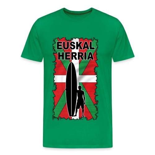 basque surfing flag - Men's Premium T-Shirt