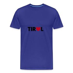 TIROL - schwarz/rot, verschiedene Farben - Männer Premium T-Shirt