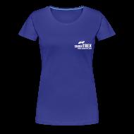 T-shirts ~ Dame premium T-shirt ~ SnowTrex Shirt cyan