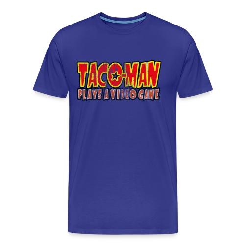 TACO-MAN PLAYS (FADED) - Men's Premium T-Shirt