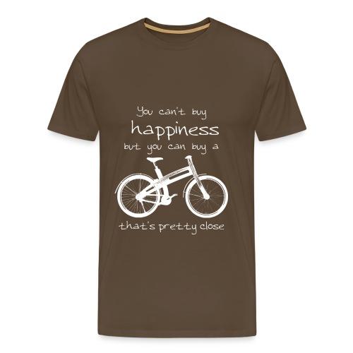 Bough Bikes happiness t-shirt heren - Mannen Premium T-shirt