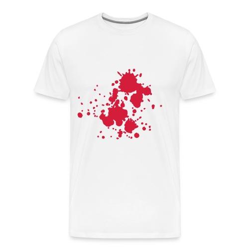Oversize herenshirt met bloedvlekken - Mannen Premium T-shirt