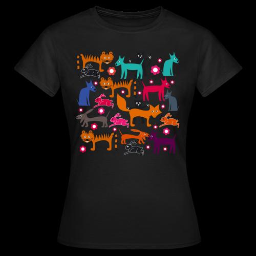 girlieshirt, alle meine tiere - Frauen T-Shirt