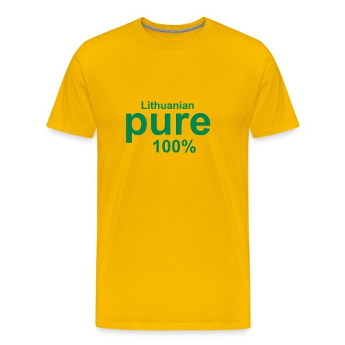 Pure lithuaniain - 100% - Men's Premium T-Shirt