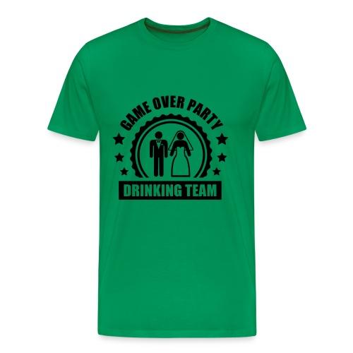 T-shirt Premium Homme - drôle,mariage,tee-shirt,vert
