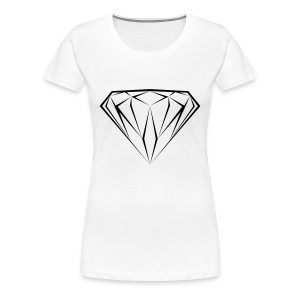 T shirt Diamant noir black diamond diamante dollars - T-shirt Premium Femme