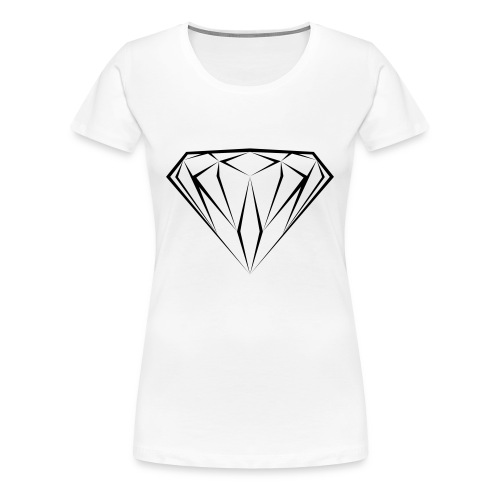 T shirt Diamant noir black diamond diamante dollars - T-shirt Premium Femme