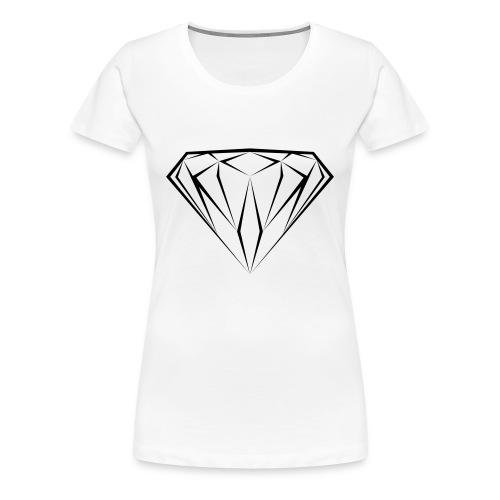T-shirt black diamond Femme - T-shirt Premium Femme