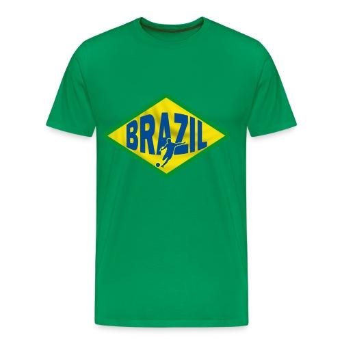 brazil football, soccer - Men's Premium T-Shirt