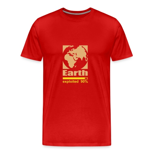 Earth exploited - T-shirt Premium Homme