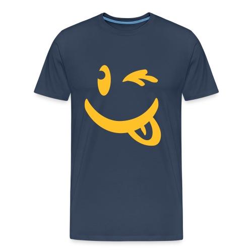 Infinite Wink Tee (Royal) - Men's Premium T-Shirt