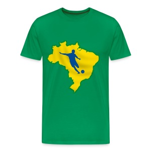 brazil football, soccer  - Men's Premium T-Shirt